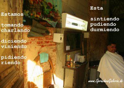 spanisch kuba hairdresser gerundium