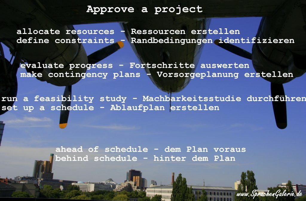 Englischkurs Projekt Mangement – nützliche Vokabelliste