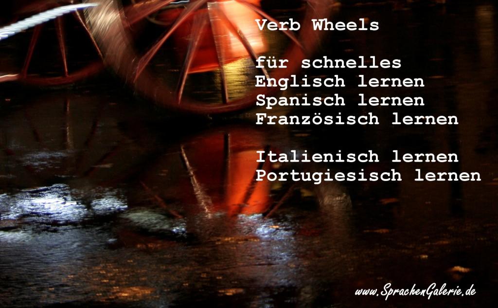 Schnelles Sprachen Lernen mit Verb Wheels: Englisch + Spanisch + Französisch